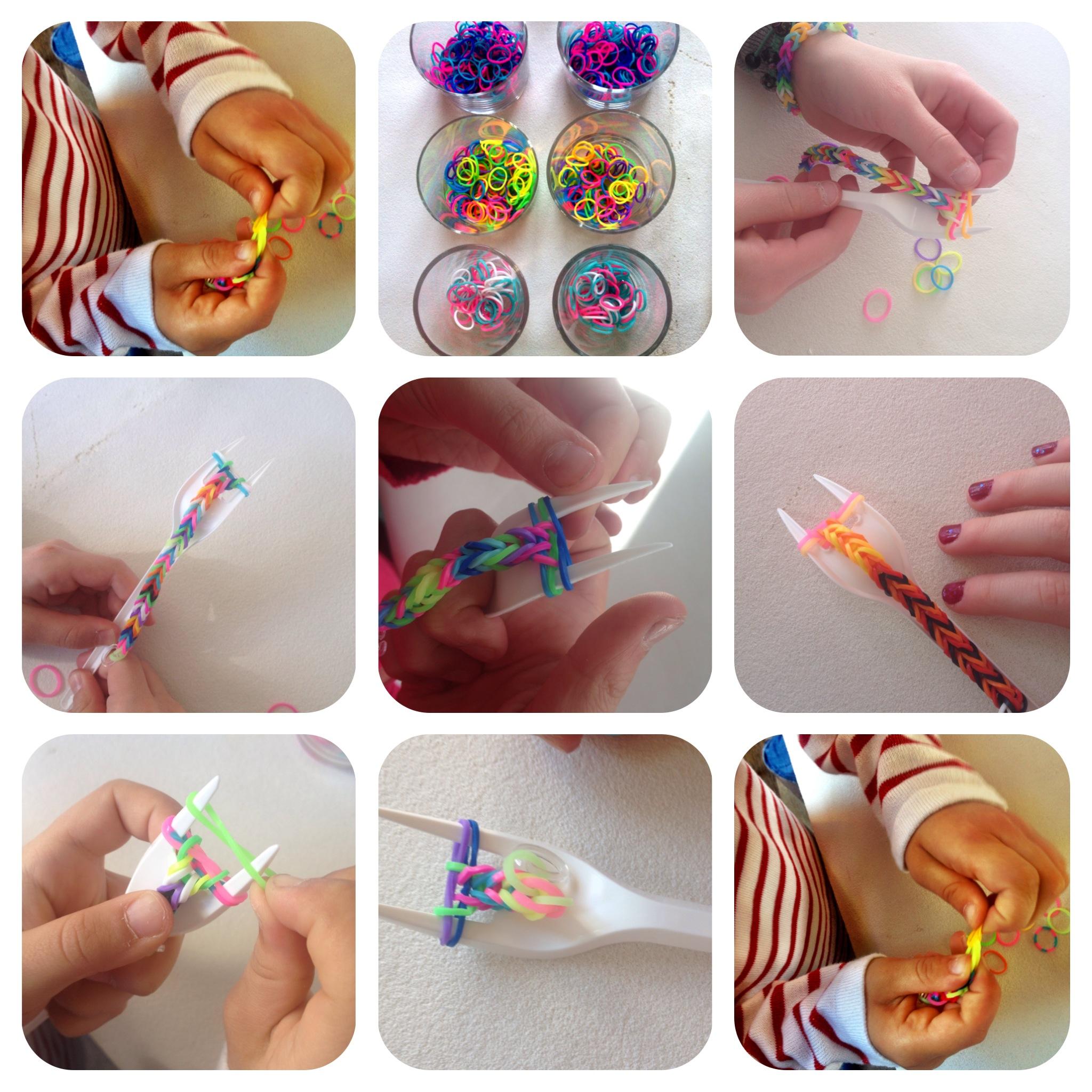 Bracelet en elastique en fourchette bijoux la mode - Faire des bracelets elastiques ...