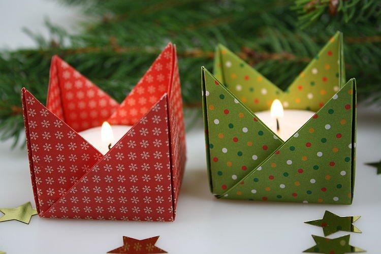 bougeoirs origami sakarton. Black Bedroom Furniture Sets. Home Design Ideas
