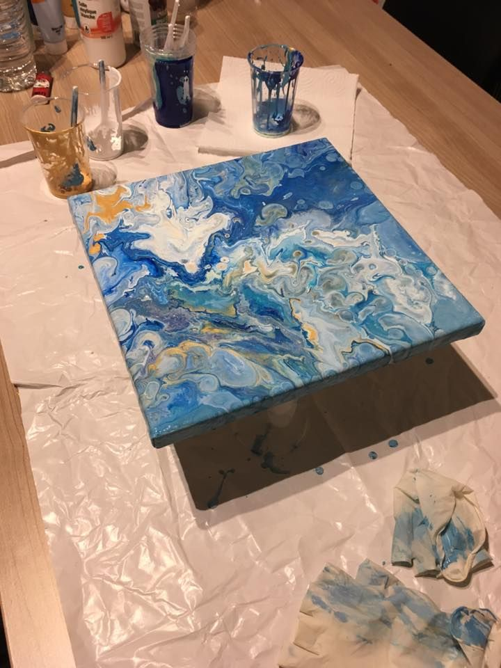 Peinture fluide: technique de l'acrylique pouring - Sakarton
